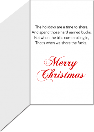 Christmas Holiday Greeting Card A Time to Share