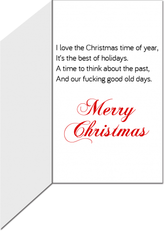 Christmas Greeting Card The Good Old Days