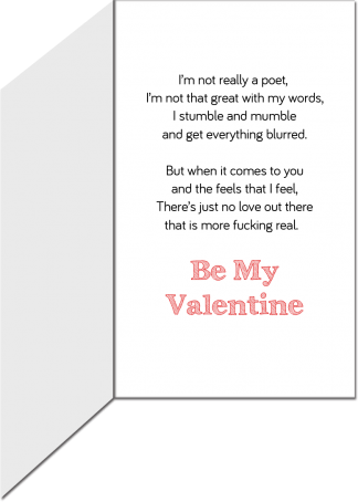 Valentine's Day Greeting Card - There's No Love More Real