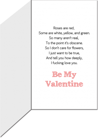 Valentine's Greeting Card - Roses are Red